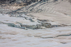 Mer de Glace (Sea of Ice) is a glacier located on the Mont Blanc Stock Images