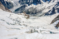 Mer de Glace (Sea of Ice) is a glacier located on the Mont Blanc Royalty Free Stock Image
