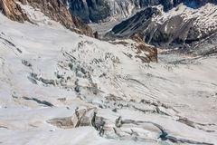Mer de Glace (Sea of Ice) is a glacier located on the Mont Blanc Stock Photos