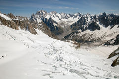 The Mer de Glace (Sea of Ice) Stock Photography