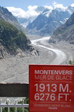 Mer de glace Royalty Free Stock Photography