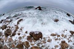 Mer de l'hiver Photo libre de droits