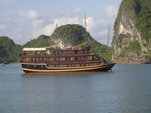 Mer de la Chine en compartiment long d'ha, Vietnam Image libre de droits