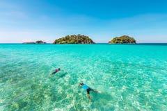 Mer de la Thaïlande à l'île de kohrang en Thaïlande Photo stock