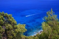 Mer de Lefkada, Grèce - agios Nikitas Image libre de droits