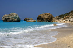 Mer de Lefkada, Grèce - Kavalikefta Photos stock