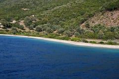 Mer de Lefkada, Meganissi, Grèce Photo stock