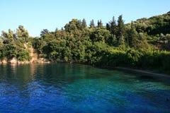 Mer de Lefkada, Skorpios, Grèce Photo stock