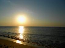 Mer de lever de soleil Photo stock