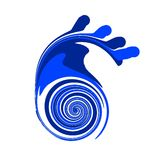mer de logo Photos libres de droits