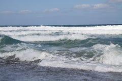 mer de matin et ciel bleu photos libres de droits
