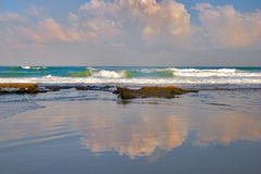 mer de miroir Images libres de droits