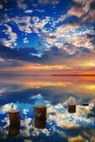 Mer de miroir Photo libre de droits