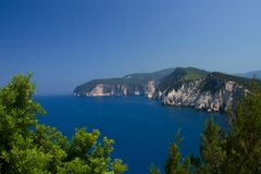 Mer de nature de plage d'été de Leucade Grèce Image libre de droits