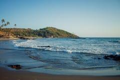 Mer de nature de plage de Goa d'Inde images stock