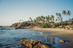 Mer de nature de plage de Goa d'Inde Photo stock