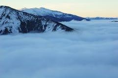 Mer de nuage Photographie stock