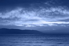 Mer de nuit Images stock