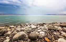 Mer de paysage de la Galilée image libre de droits
