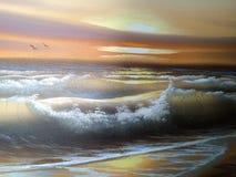 Mer de peinture Image libre de droits