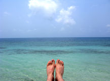 mer de pied Photo stock