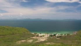 Mer de plage et d'émeraude, vue supérieure Photos libres de droits