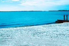 Mer de plage de paradis dans le corail la Floride de cap Photo stock