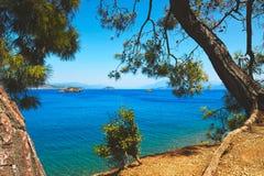 mer de plage tropicale Images libres de droits