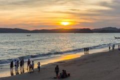 Mer de province de thailandKrabi Photos libres de droits
