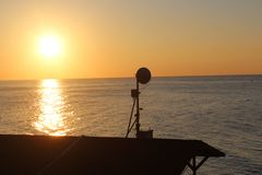 Mer de Sun Photo libre de droits