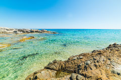 Mer de turquoise en plage de Scoglio di Peppino Images stock