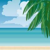 Mer de voyage de tourisme d'horizon de Palm Beach Photos libres de droits