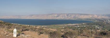 Mer de vue panoramique de la Galilée Images libres de droits