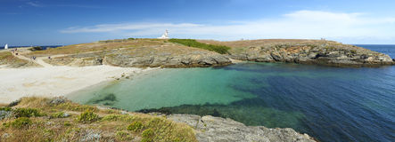Mer del en del ile de la belleza en Bretaña Foto de archivo