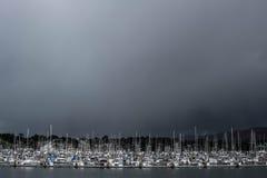 Mer des bateaux Photos stock