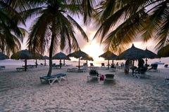 Mer des Caraïbes à l'aube Images stock