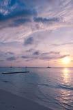 Mer des Caraïbes à l'aube Photographie stock
