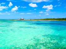 Mer des Caraïbes - île d'iguane, Cayo largo, le Cuba Image stock