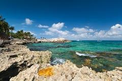 Mer des Caraïbes au Mexique Images libres de droits
