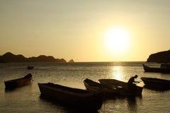 Mer des Caraïbes. Compartiment de Taganga. La Colombie. Images stock