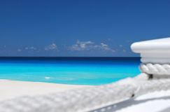 Mer des Caraïbes de détente Photo stock