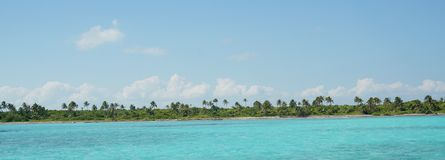 Mer des Caraïbes de turquoise Photo libre de droits