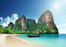 Mer des Caraïbes et paumes Photographie stock