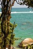 Mer des Caraïbes. Stationnement national de Tayrona. La Colombie Photographie stock libre de droits