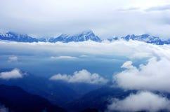 Mer des nuages photographie stock libre de droits