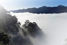 Mer des nuages et des montagnes Photos stock