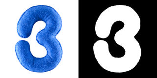mer du nord proche à capuchon de numéro de l'Allemagne de 3 présidences de plage Jouet fabriqué à la main de feutre de bleu Symbo Image stock