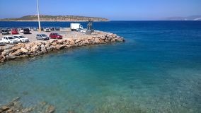 Mer en Crète Image libre de droits