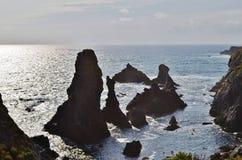 Mer en ile Falaise de Красавицы Стоковое Изображение