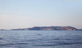 Mer et île Image stock